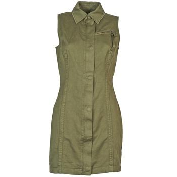 textil Dame Korte kjoler Diesel D-NAOMIE KAKI