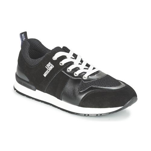 Sko Dame Lave sneakers Love Moschino JA15062G13 Sort