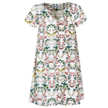textil Dame Korte kjoler Compania Fantastica EPINETA Hvid / Grøn / Pink