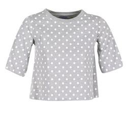 textil Dame T-shirts m. korte ærmer Compania Fantastica EPOITATI Grå / Hvid