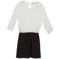 textil Dame Korte kjoler Suncoo CELESTINE Sort / Hvid