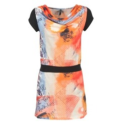 textil Dame Korte kjoler Smash CITRON Orange / Sort