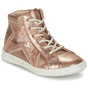 Sko Pige Høje sneakers GBB PRUNELLA Pink / Guld