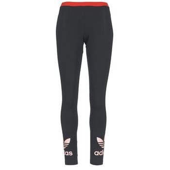 textil Dame Leggings adidas Originals TREFOIL LEGGING Sort / Pink