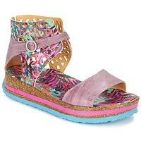 Sko Dame Sandaler Think REMIL Pink / Flerfarvet