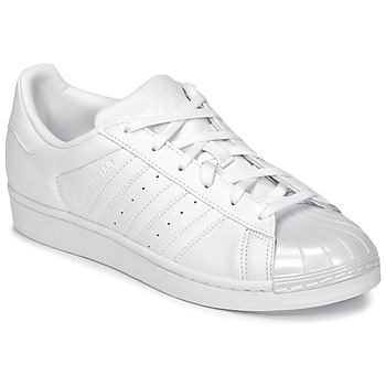 Sko Dame Lave sneakers adidas Originals SUPERSTAR GLOSSY TO Hvid