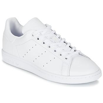 Sko Børn Lave sneakers adidas Originals STAN SMITH J Hvid