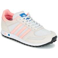 Sko Børn Lave sneakers adidas Originals LA TRAINER J Hvid / Pink