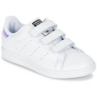 Sko Pige Lave sneakers adidas Originals STAN SMITH CF C Hvid