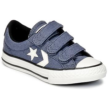 Sko Dreng Lave sneakers Converse STAR PLAYER 3V VINTAGE CANVAS OX Blå / Hvid