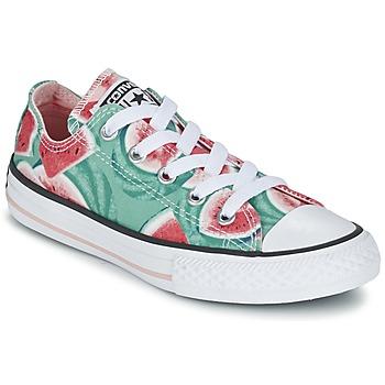 Sko Pige Lave sneakers Converse CHUCK TAYLOR ALL STAR WATERMELON OX Grøn / Rød / Hvid
