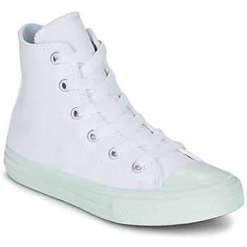 Sko Pige Høje sneakers Converse CHUCK TAYLOR ALL STAR II PASTEL SEASONAL TD HI Hvid / Blå / Himmelblå
