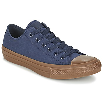 Sko Herre Lave sneakers Converse CHUCK TAYLOR ALL STAR II TENCEL CANVAS OX Marineblå / Brun