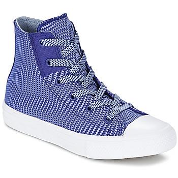 Sko Børn Høje sneakers Converse CHUCK TAYLOR ALL STAR II BASKETWEAVE FUSE TD HI Indigo / Blå / Hvid