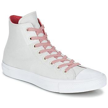 Sko Høje sneakers Converse CHUCK TAYLOR ALL STAR II BASKETWEAVE FUSE HI Beige / Hvid / Rød