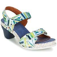 Sko Dame Sandaler Art I  ENJOY Blå / Grøn