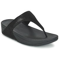 Sko Dame Flip flops FitFlop SHIMMY SUEDE TOE-POST Sort