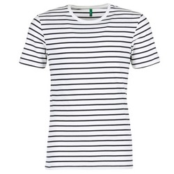 textil Herre T-shirts m. korte ærmer Benetton MAKOUL Blå / Hvid