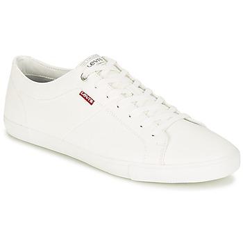 Sko Herre Lave sneakers Levi's WOODS Hvid