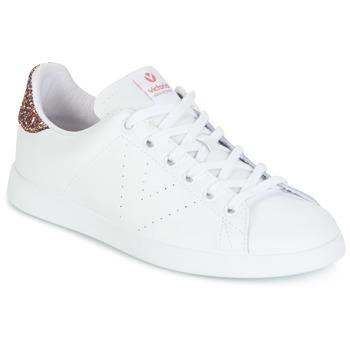 Sko Dame Lave sneakers Victoria DEPORTIVO BASKET PIEL Hvid / Pink / Glitter