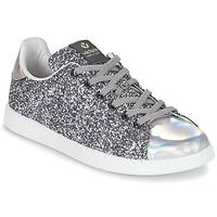 Sko Dame Lave sneakers Victoria DEPORTIVO BASKET GLITTER Sølv