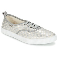 Sko Dame Lave sneakers Victoria INGLES TEJ PLACA SERPIENTE Sølv