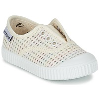 Sko Pige Lave sneakers Victoria INGLESA LUREX ELASTICO BEIGE