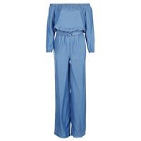textil Dame Buksedragter / Overalls MICHAEL Michael Kors TENCEL OFF SHDR JUMPSUIT Blå