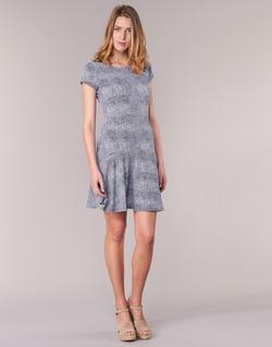textil Dame Korte kjoler MICHAEL Michael Kors ZEPHYR SS FLARE DRS Blå / Hvid