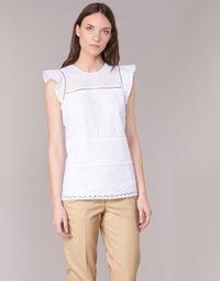 textil Dame Toppe / Bluser MICHAEL Michael Kors COMBO EYELET S/S Hvid