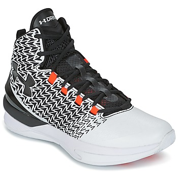 Sko Herre Basketstøvler Under Armour UA ClutchFit Drive 3 Hvid / Sort / Orange