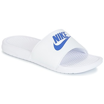 Sko Herre badesandaler Nike BENASSI JUST DO IT Hvid / Blå