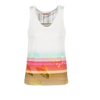 textil Dame Toppe / T-shirts uden ærmer Desigual TEDERI Hvid / Flerfarvet