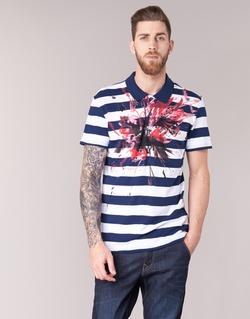 textil Herre Polo-t-shirts m. korte ærmer Desigual RELIRA Hvid / Marineblå / Rød