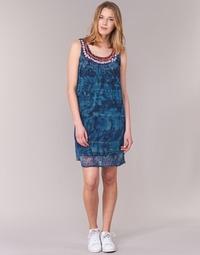 textil Dame Korte kjoler Desigual LIORASE Blå