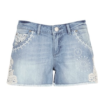 textil Dame Shorts Desigual MARTES Blå