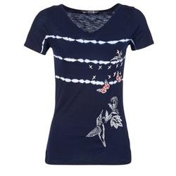textil Dame T-shirts m. korte ærmer Desigual TIDEREA Marineblå