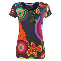 textil Dame T-shirts m. korte ærmer Desigual GRIZILLO Flerfarvet
