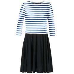 textil Dame Korte kjoler Petit Bateau FINALLY Hvid / Blå