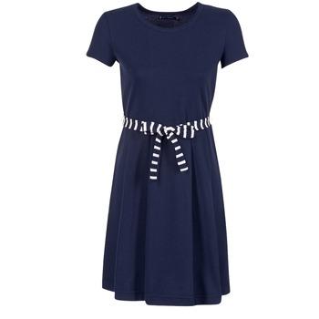 textil Dame Korte kjoler Petit Bateau FLARE Marineblå
