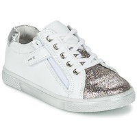 Sko Dreng Lave sneakers Babybotte KRAZY Hvid / Sølv