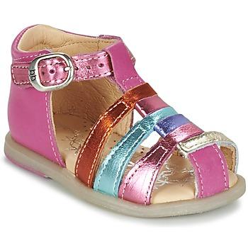 Sko Pige Ballerinaer Babybotte TIKALOU Pink / Flerfarvet