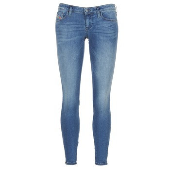 textil Dame Jeans - skinny Diesel SKINZEE LOW ZIP Blå / 0681P