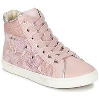 Sko Pige Høje sneakers Geox J KIWI G. H Pink