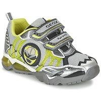 Sko Dreng Lave sneakers Geox J SHUTTLE B. B Grå / Citron
