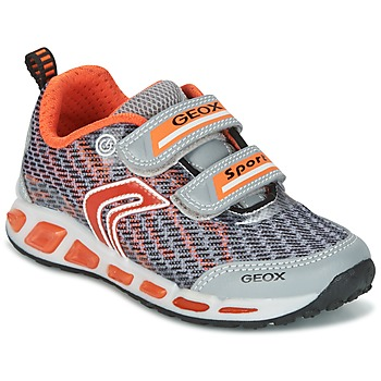 Sko Dreng Lave sneakers Geox J SHUTTLE B.A Grå / Orange