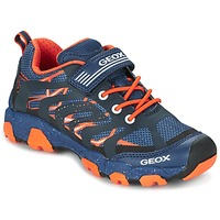 Sko Dreng Lave sneakers Geox J MAGNETAR B. A Marineblå / Orange