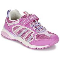Sko Pige Lave sneakers Geox J BERNIE G. A Pink / LILLA
