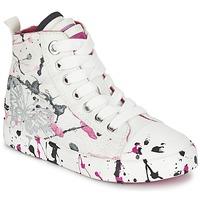 Sko Pige Høje sneakers Geox J CIAK G. C Hvid / Pink