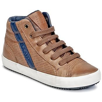 Sko Dreng Høje sneakers Geox J ALONISSO B. B COGNAC